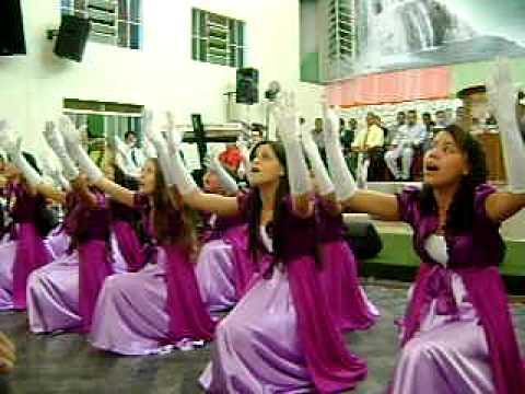 Equipe de coreografia de Guaraíta Goiás - na Assembléia de Deus de Goiás em 10/10/2009