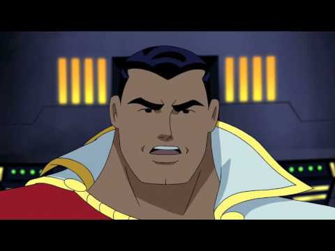 Superman reprimands Captain Marvel