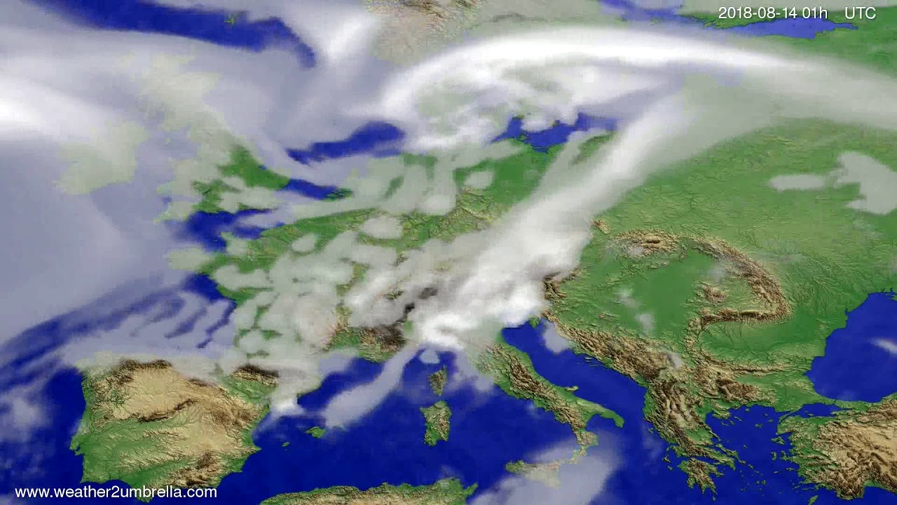 Cloud forecast Europe 2018-08-11