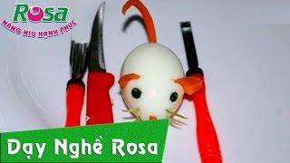 Tỉa rau củ quả hình con chuột