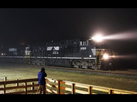 ES44AC - Despite missing a patched Southern Pacific unit on train Q601, we still managed to get a couple of trains that had non-CSX power. The 2012 Winter Watch was r...