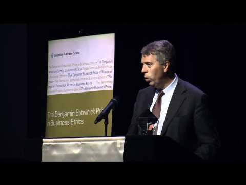 2010 Botwinick Preis in Geschäftsethik Grundsatzrede: Peter Blom