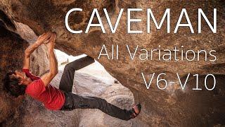 CAVEMAN a Joshua Tree Bouldering Classic   All Variations   V6-V10 by Giant Rock