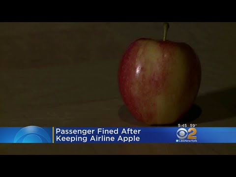Passenger Fined After Keeping Airline Apple