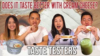 Video DOES IT TASTE BETTER WITH CREAM CHEESE? | Taste Testers | EP 64 MP3, 3GP, MP4, WEBM, AVI, FLV Agustus 2018
