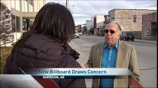 Harrison (AR) United States  City pictures : 12 31 14 New Billboard Causes Stir in Harrison, Ark