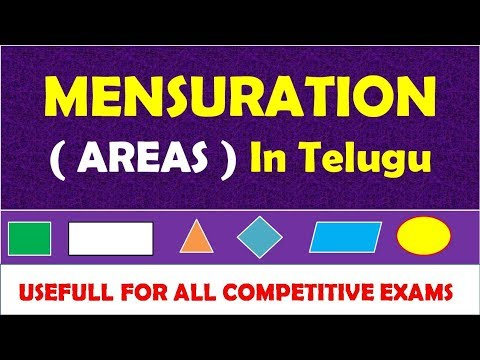 Mensuration Areas Class In Telugu | Mensuration Maths Tricks In Telugu | for all competitive exams