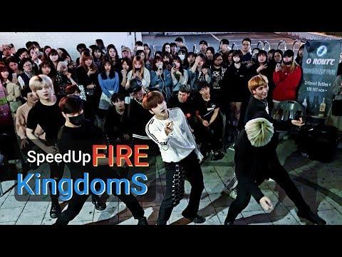 《BTS_#Fire(SpeedUp)》☆20190501#KingdomS(킹덤즈) 홍대버스킹 20190501_214001 #SnowHorse