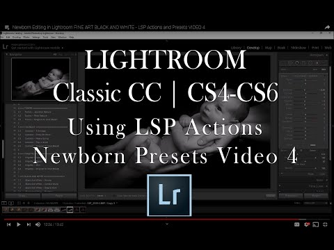 Newborn Editing in Lightroom FINE ART BLACK AND WHITE - LSP Actions and Presets VIDEO 4