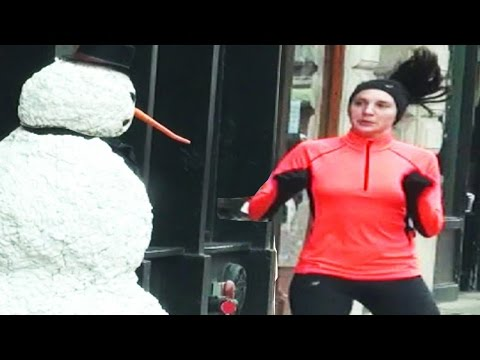 Scary Snowman Terrorizes Boston – Christmas Special