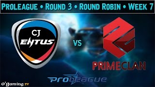 CJ Entus vs Prime - Proleague 2015 - Round Robin : Round 3 - Week 7