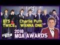 [2018 MGA Awards] BTS X TWICE X Charlie Puth X Wanna One with Korean Unnie