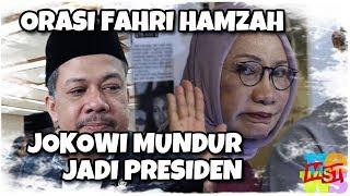 Video Orasi Fahri Hamzah Bela Ratna: Minta Jokowi Berhenti Jadi Presiden, Disambut Takbir MP3, 3GP, MP4, WEBM, AVI, FLV Desember 2018