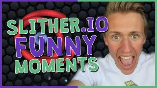 SLITHER.IO - 3RD LONGEST SNAKE IN THE LOBBY!? (Funny Moments Gameplay)