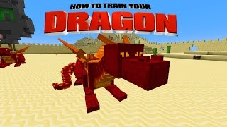 Minecraft - HOW TO TRAIN YOUR DRAGON - Fire Dragons! [39]