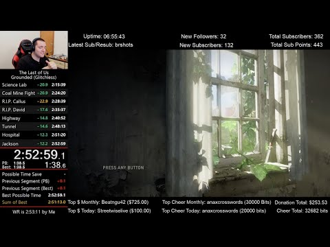 The Last Of Us Speedrun (2:52:59) On Grounded Mode (Glitchless)