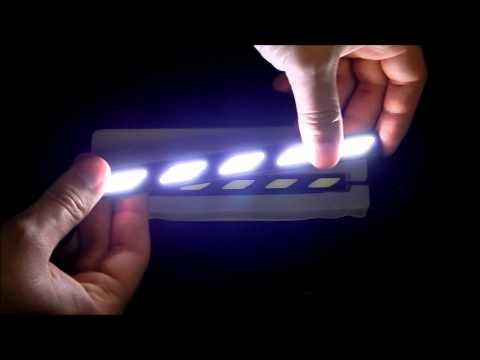 Дневные ходовые огни LED DRL COB АЛМАЗ 17 CM Черный корпус