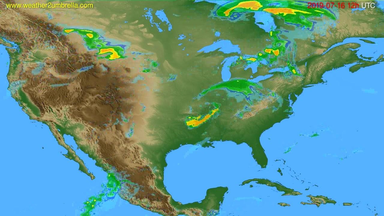 Radar forecast USA & Canada // modelrun: 00h UTC 2019-07-16