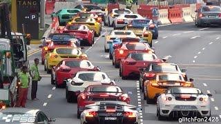 Video Supercar Traffic Jam Singapore - Scuderia FSG MP3, 3GP, MP4, WEBM, AVI, FLV April 2019