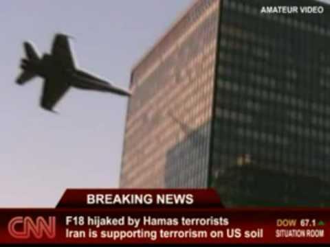 F18戰鬥機失控撞上高樓大廈!