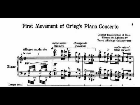 Grieg-Grainger First Movement of Grieg's Piano Concerto