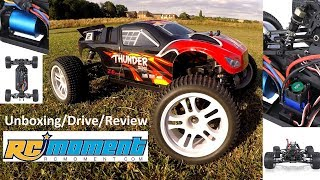 """Introducing the ZD Racing Thunder ZTX-10 1/10th Scale Truggy. I've been sent this product today by RCMoment.com. This is an unboxing, drive and review of the product which shows what's included, a few jumps and driving clips, and also my opinion of the RC truggy. It's pretty cool!In this video I'm running with 2s lipo (Included with the truck) and 3s lipo for comparison. This truck is a ready to run model and has everything included in the box to get you off the ground.Links to the product with voucher codes for discount:ZD Racing Thunder ZTX-10 1/10th Scale Truggy:https://www.rcmoment.com/rtr-ready-to-run--2138/p-rm7152b-uk.html?aid=zdracing91045% off all products with coupon code """"Sale15""""20$ coupon code : """"ZDRN9104""""https://www.rcmoment.com/Some of the Specs:Brand name: ZD RacingItem name: NO.9104 Thunder ZTX-10Material: PlasticColor: Blue, black optionalCharger plug: EU, US, UK plug optionalTransmitter: T3GMN-2400 2.4GHz Pistol Grip RadioMotor: 3300KV T3650 brushless motorESC: 60AGear ratio: 11.8 : 1Servo: 3.5kg Standard servoPower supply: 7.4V 2400mAh Li-Po battery (included)Max speed: 64km/hRemote control frequency: 2.4GHzControl distance: About 150mCharging time: About 150minsWorking time: About 10minsWheel diameter: 100mmWheel width: 54mmWheelbase: 300mmGround clearance: 40mmI hope you enjoy this video and remember to like, subscribe, and share this video around. I'll see you next time!Jake Billing's Facebook Page Here: https://www.facebook.com/jakebillingonyoutube/"""
