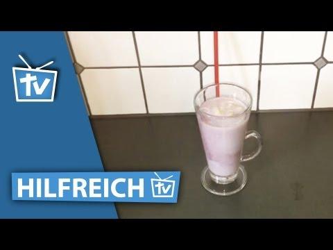 Fruchtigen Buttermilch-Drink mixen / kreatives Obstgetränk mit Buttermilch