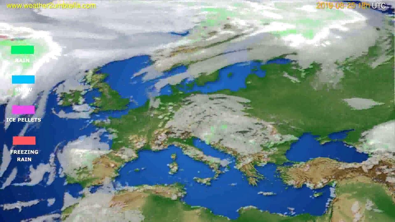 Precipitation forecast Europe // modelrun: 12h UTC 2019-08-23