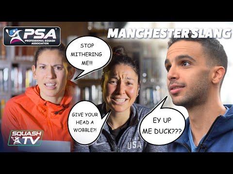 Squash: PSA Stars React to Manchester Slang