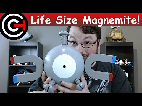 Giant 3D Printed Magnemite! - Life Size Pokemon (видео)