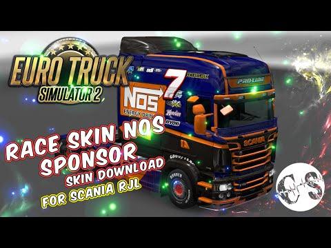 Scania RJL Race Nos Sponsor Skin