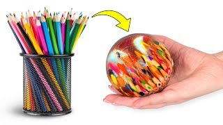 Video Epoxy Resin Magic: A Clear Sphere With Colorful Pencils Inside MP3, 3GP, MP4, WEBM, AVI, FLV Februari 2019