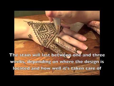 Fessi Style Henna Demonstration by Elizebeth (видео)