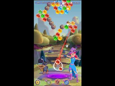 Bubble Witch 3 Saga Level 111 ~ 2 stars ~ no boosters (видео)