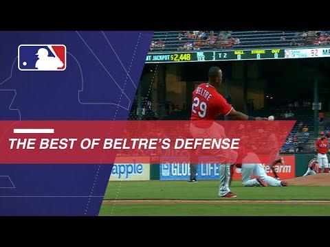 Video: Beltre's career highlighted by Gold Glove defense