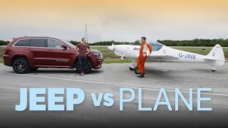 Can A Jeep Beat A Plane On Track? by Car Throttle