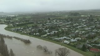 Hundreds of people have been forced to flee their homes in New Zealand after a severe storm hit. Report by April Brown.