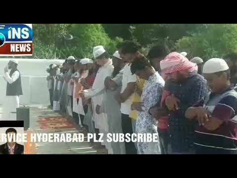 MUSLIM OFFER NAMAZ E ISTISQA AND PRAY FOR RAIN AT EIDGAH MIR ALAM TELANGANA HYDERABAD