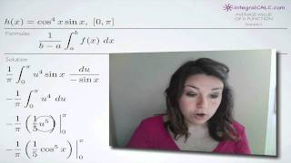 Average Value Of A Function Example 3