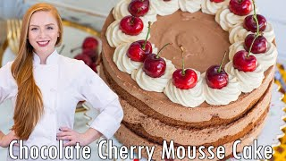 Chocolate Cherry Mousse Cake by Tatyana's Everyday Food