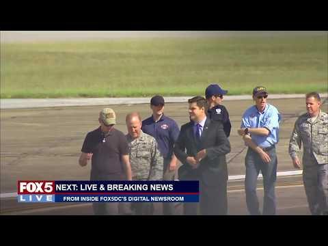 FOX 5 LIVE (10/15): Gerard Butler talks new submarine thriller at Pentagon; Trump tours Florida
