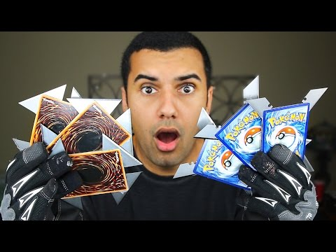 MOST DANGEROUS TOY OF ALL TIME!! (EXTREME POKEMON CARD / YU-GI-OH! CARD) THROWING CARD!! EDITION!!) (видео)