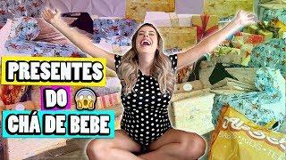 ABRINDO TODOS OS PRESENTES DO CHÁ DE BEBE   Amanda Domenico