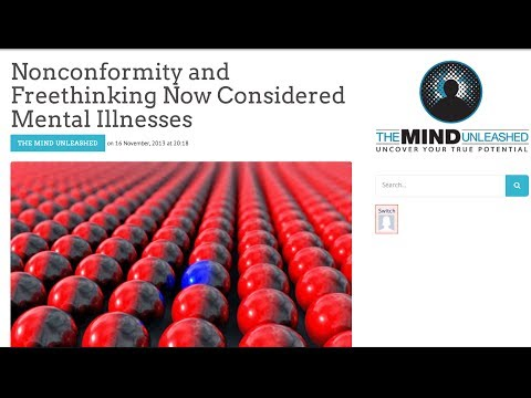 The DSM Now Considers Nonconformity And Freethinking A Mental Illnesses