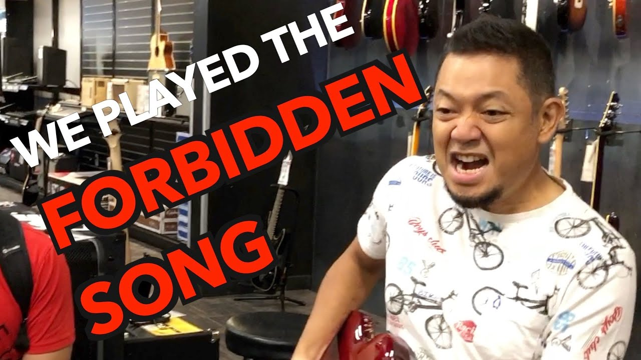 We played the Forbidden Song in a Guitar Store!