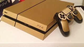 Wrapping PS4 and Controller (Gold)!!!