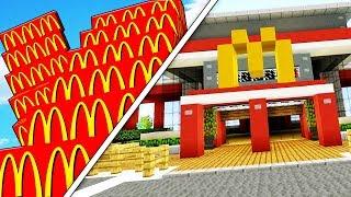 Minecraft MCDONALDS LUCKY BLOCK STAIRCASE MOD RACE! - Minecraft Modded Lucky Block Olympics Round 2