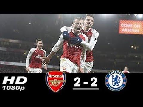 Arsenal vs Chelsea 2-2 | All Goals & Highlights | 03/01/2018