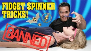 DANGEROUS FIDGET SPINNER TRICKS!!!  Don