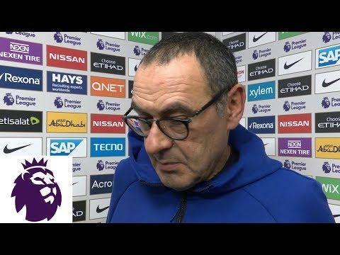 Video: Maurizio Sarri discusses Chelsea's historic loss   Premier League   NBC Sports